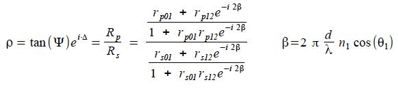 Ellipsometry Equation
